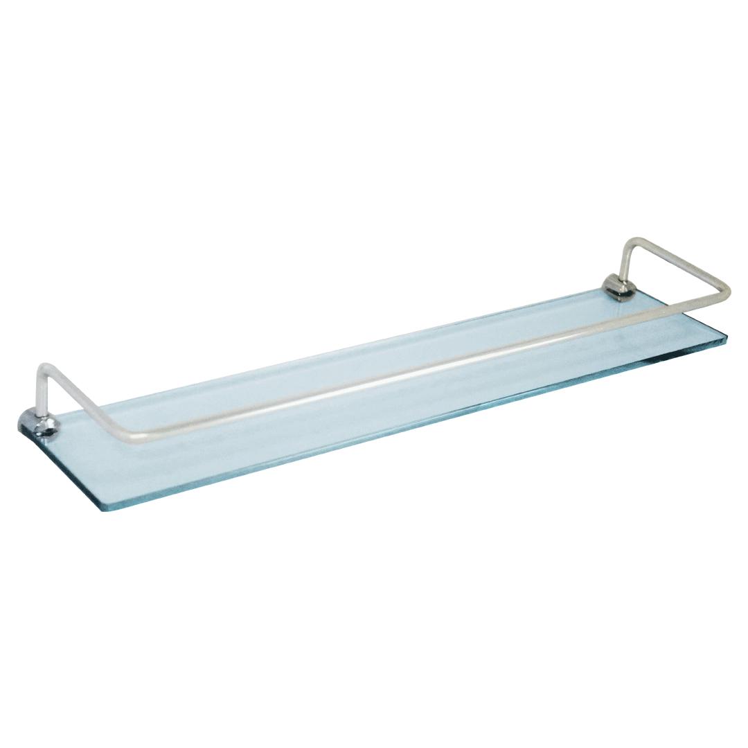 Prateleira de vidro com grade 45 cm