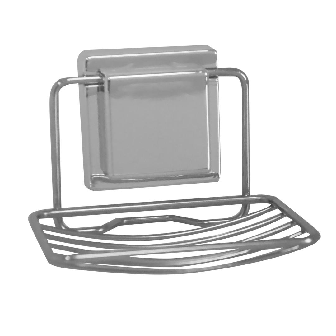 Saboneteira Aramada com Ventosa para Banheiro