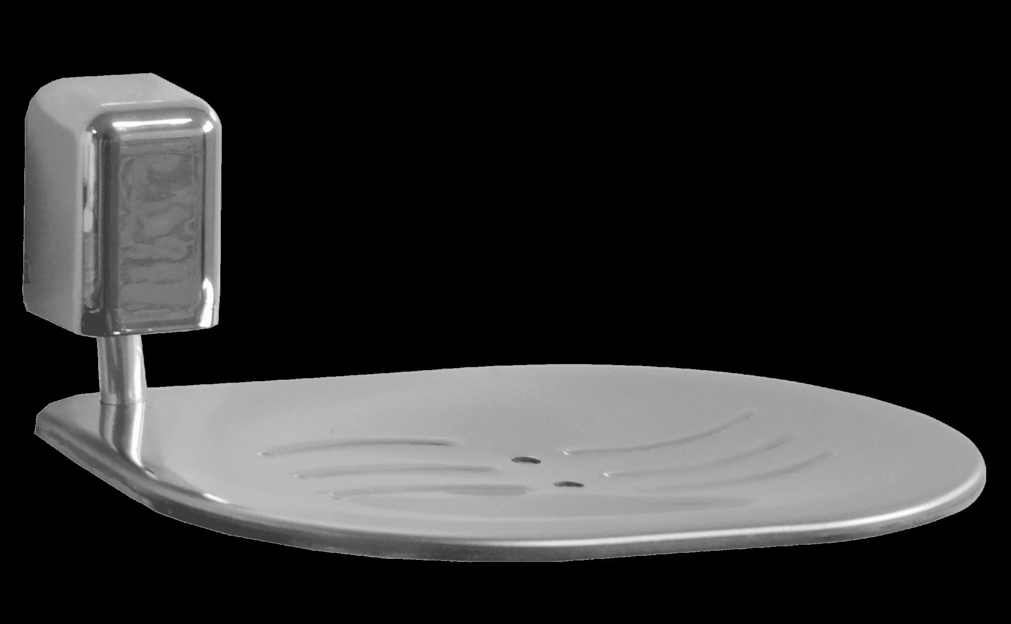 Saboneteira com Concha de Aço Inox Linha Città