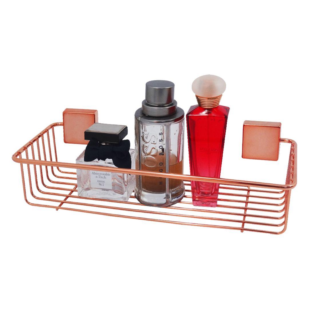 Suporte para Shampoo Rose Gold Prateleira Aramada