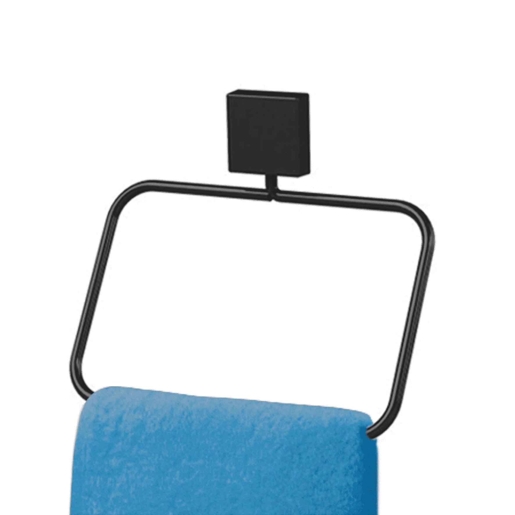 Toalheiro Preto 18Cm Bianco Nero Formato Quadrado