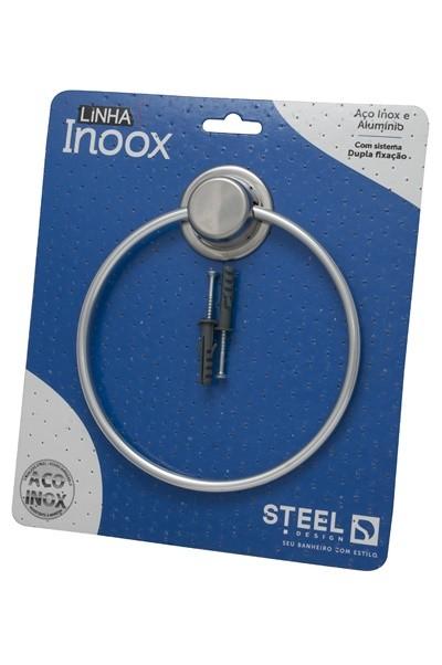 Toalhiero Redondo de Aço Inox Linha Inoox Steel Design