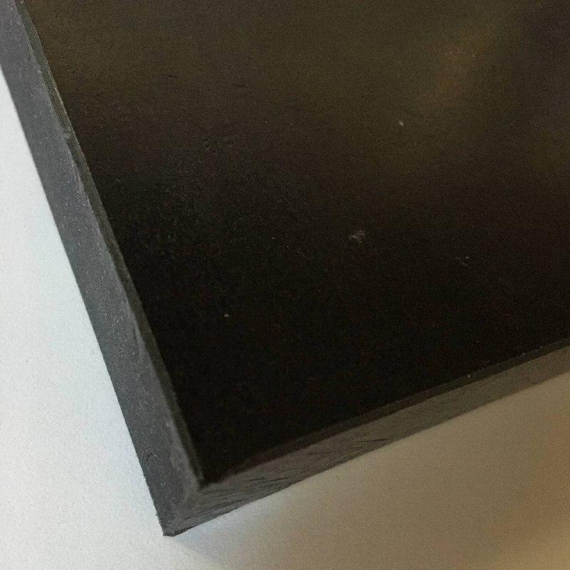 Chapa Acetal preto esp. 25 x 1.000 x 1.000 mm