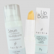 Lip Balm e Sérum Facial com Ácido hialurônico