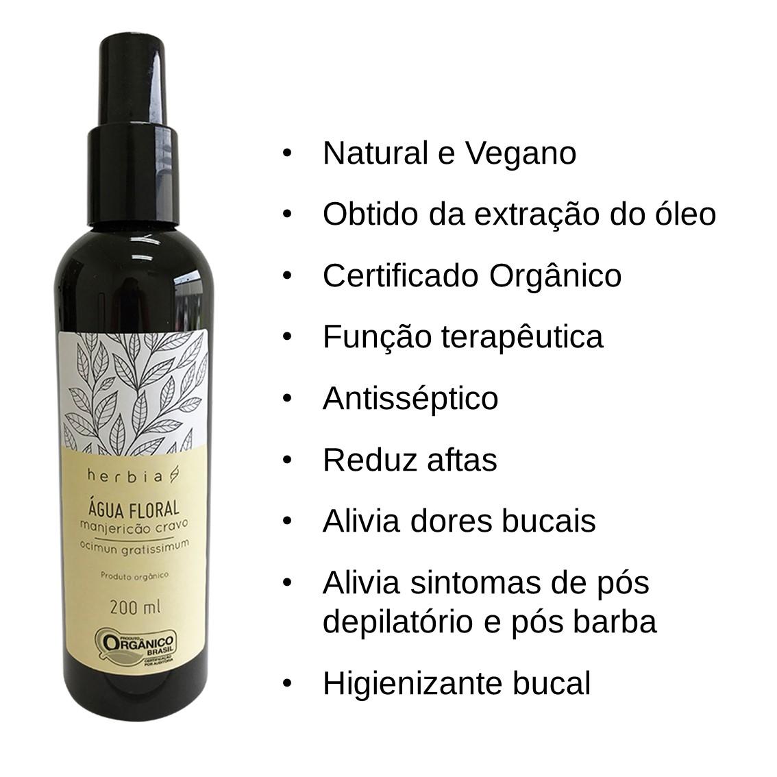 Água Floral Orgânica de Manjericão-cravo