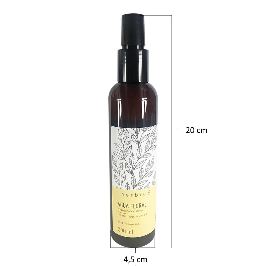 Água Floral Orgânica de Manjericão-anis