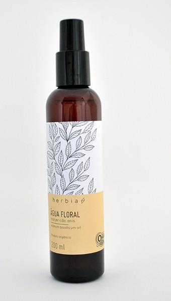 Água Floral (Hidrolato) Orgânica de Manjericão-Anis Certificado IBD