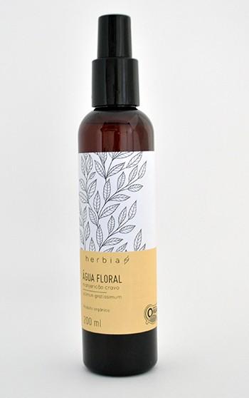 Água Floral (Hidrolato) Orgânica de Manjericão-Cravo Certificado IBD