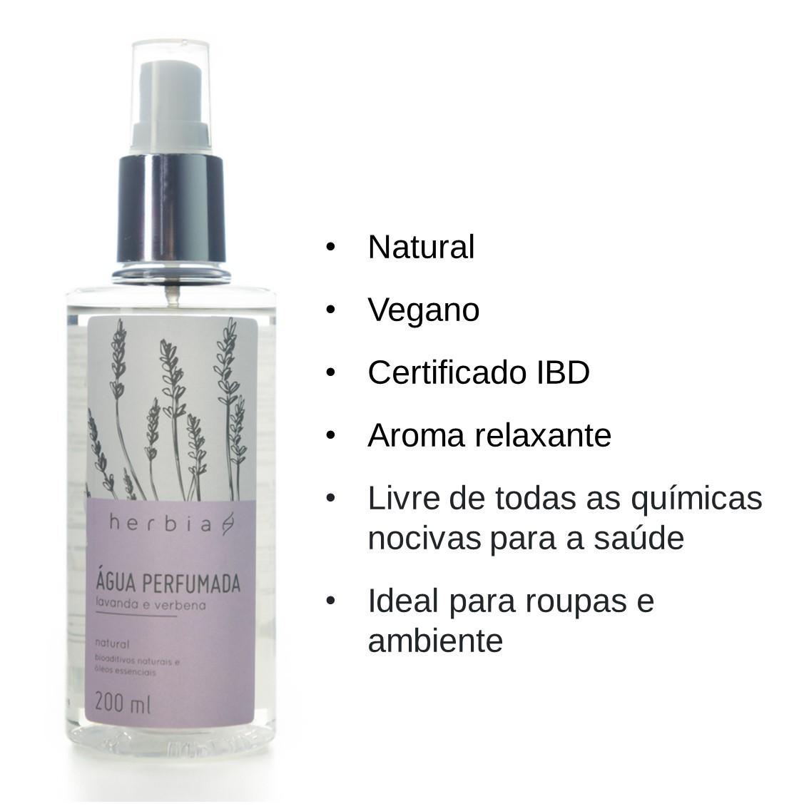 Água Perfumada Lavanda & Verbena Certificado IBD