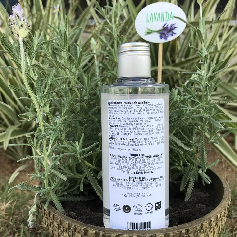 Água Perfumada Refil Lavanda & Verbena 200 ml Certificado IBD