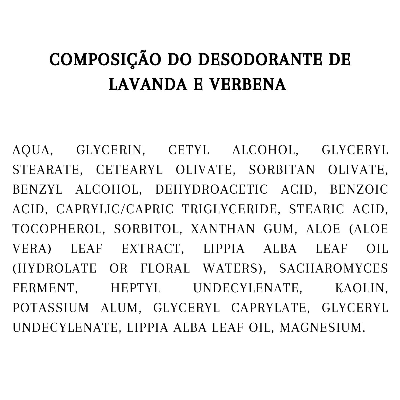 Desodorante Lavanda e Verbena | Natural | Vegano