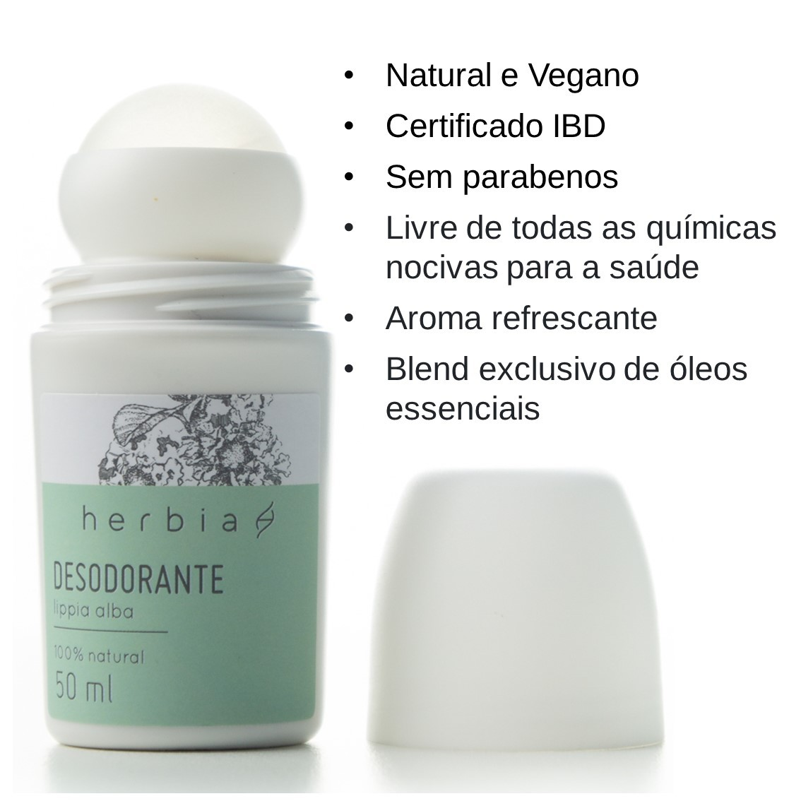 Desodorante Roll-on Lippia Alba Certificado IBD