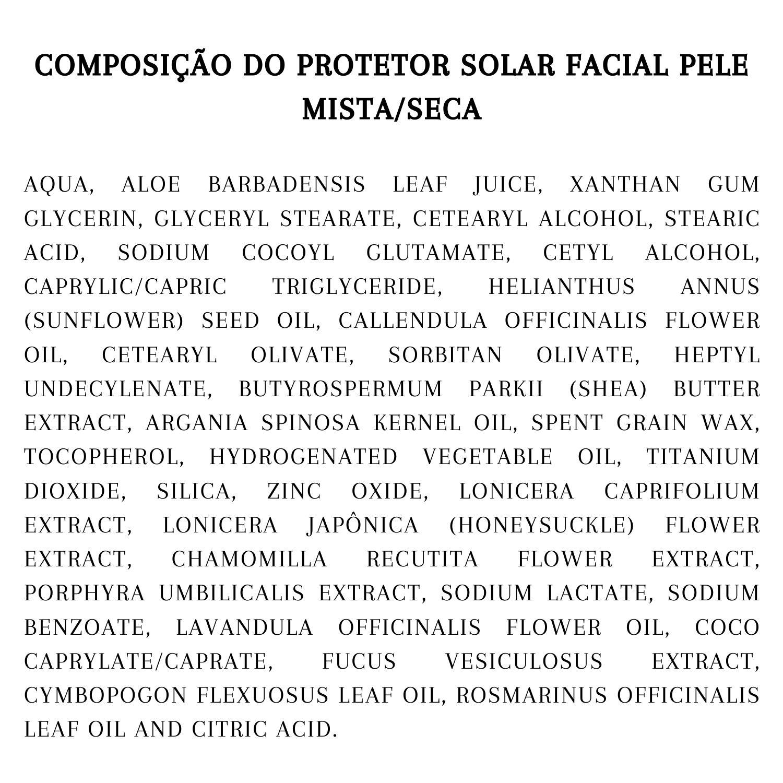 Kit Protetor Solar Natural Pele mista/seca
