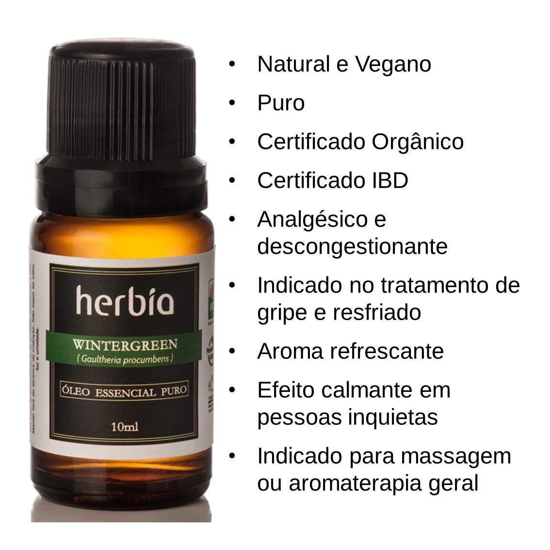 Óleo Essencial de Wintergreen Certificado IBD