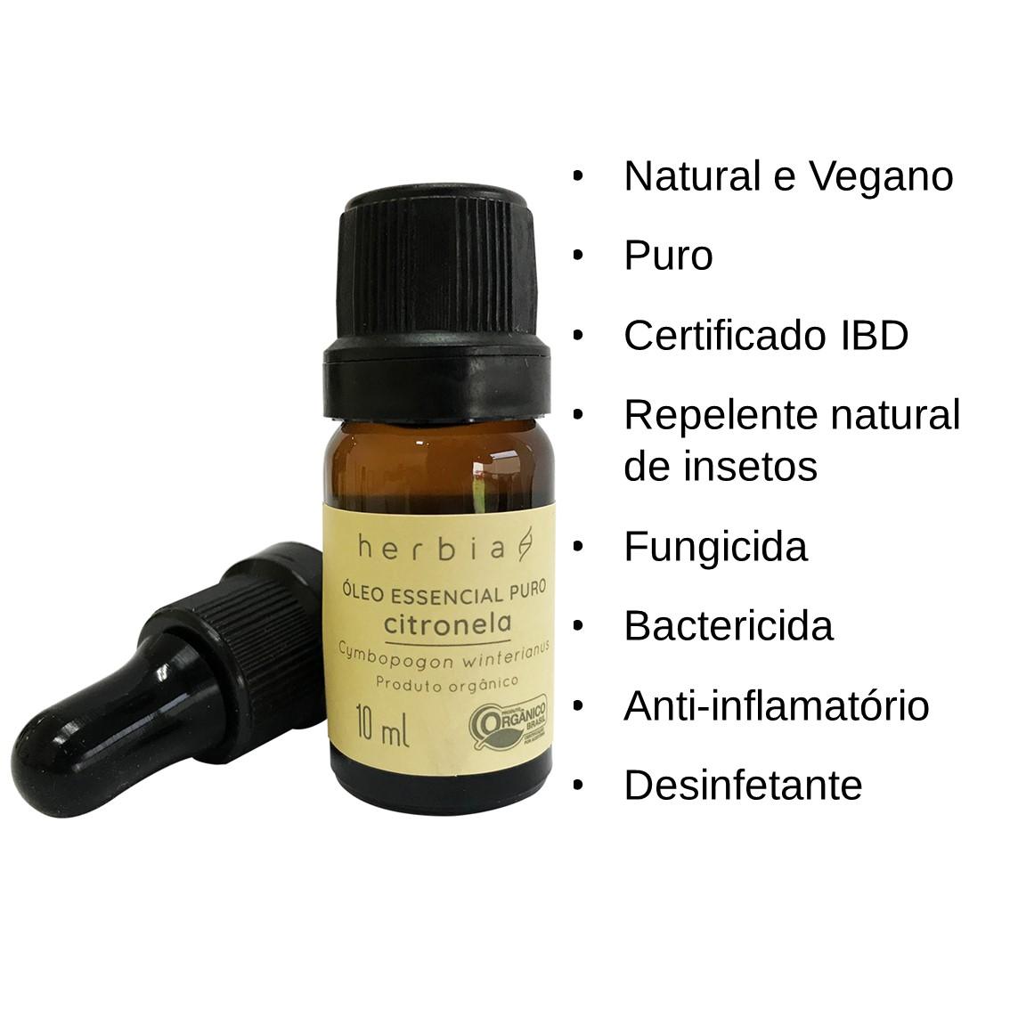 Óleo Essencial de Citronela Orgânico