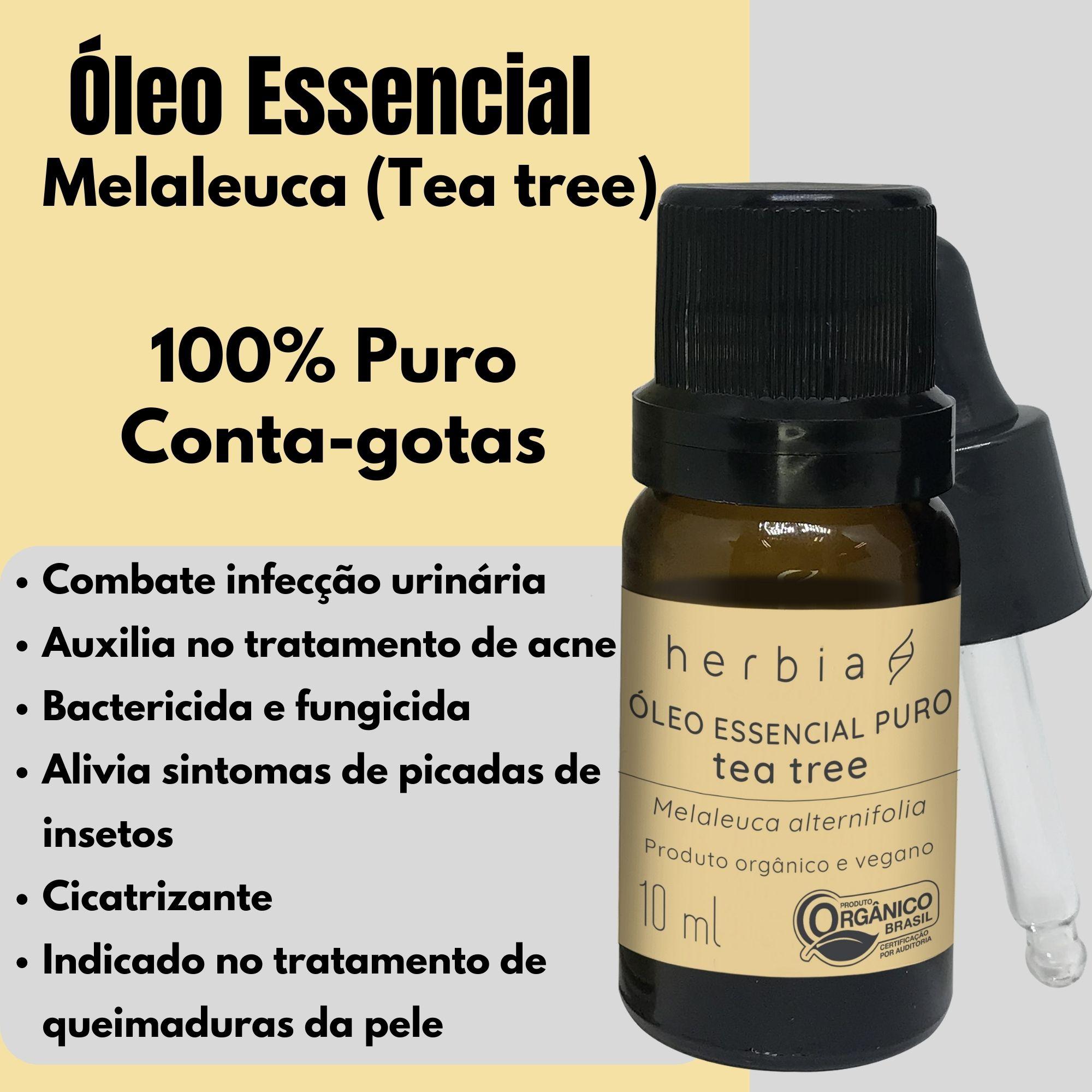 Óleo Essencial de Tea tree | Melaleuca Orgânico