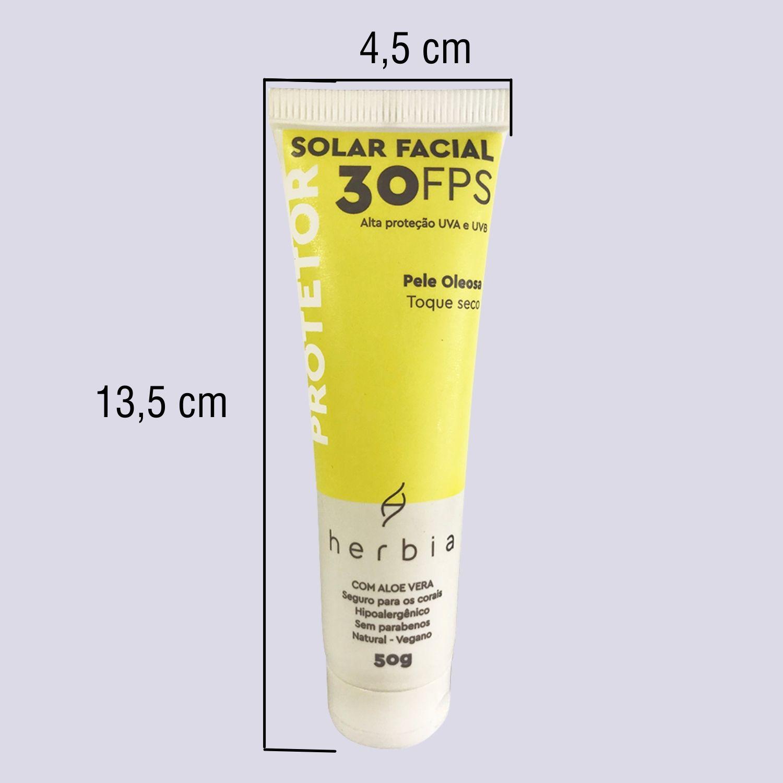 Protetor Solar Natural   Vegano   Físico   Facial Pele Oleosa FPS 30
