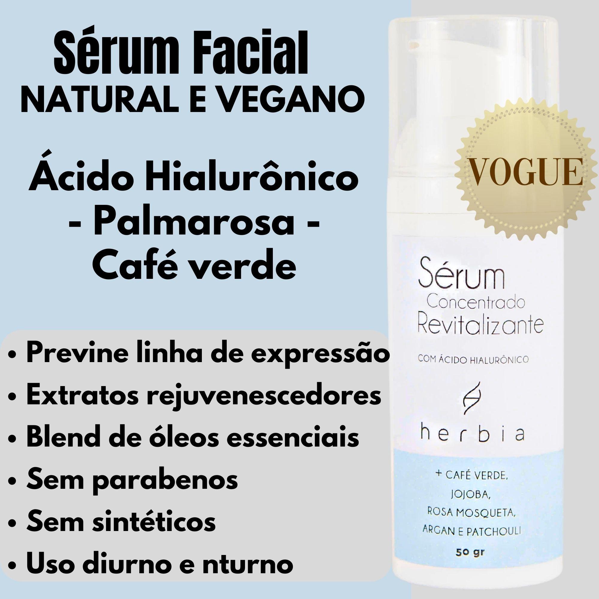 Sérum Facial Natural com Ácido Hialurônico | VEGANO