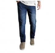 Calça DyJoris Jeans Azul Escura Lavada