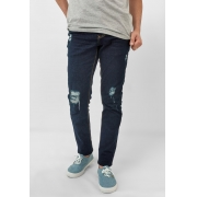 Calça Jeans Max Blue Skinny Rasgado