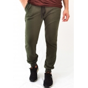 Calça Moletom King & Joe Slim Verde Militar