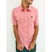 Camisa Aéropostale Rosa Slim Manga Curta