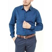 Camisa Docthos Slim Azul Marinho Xadrez