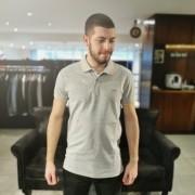Camisa Gola Polo Colcci Cinza Com Detalhe Laranja