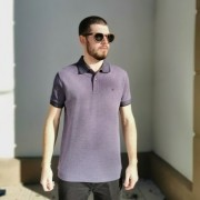 Camisa Polo Piquet Highstil Roxa