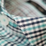 Camisa Raphy Manga Curta Xadrez Azul/Marinho/Branco