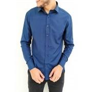 Camisa Vivacci Slim Azul Marinho
