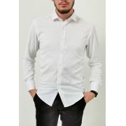 Camisa Vivacci Slim Branco Com Elastano