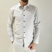 Camisa Vivacci Slim Fit Branca