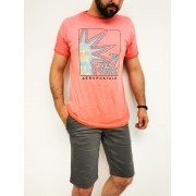 Camiseta Aéropostale Laranja Tie Dye