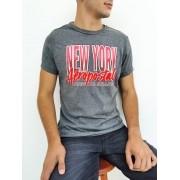 Camiseta Aéropostale Mescla Chumbo