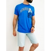 Camiseta Aéropostale Slim Azul A87