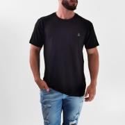 Camiseta Broken Rules Preto Básica Logo Elastano