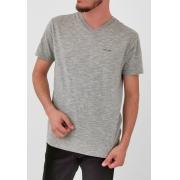 Camiseta Calvin Klein Básica Gola V Mescla Logo