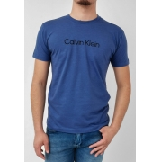 Camiseta Calvin Klein Flamê Azul Logo