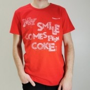 Camiseta Coca-Cola Vermelha My Smile