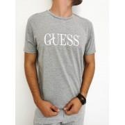 Camiseta Guess Cinza Mescla
