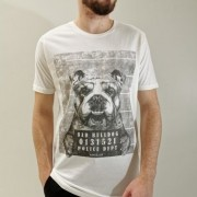Camiseta King & Joe Off White Bad Bulldog