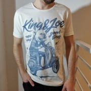 Camiseta King & Joe Off White Bulldog