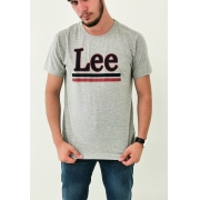 Camiseta Lee Cinza Mescla