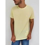 Camiseta Lozemar Amarelo Algodão Com Elastano