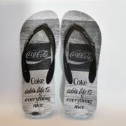 Sandália Coca-Cola Branca Cola Oak