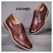 Sapato Rafarillo Marrom/Claro Brogue