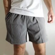 Shorts Elite Básico com Elastano Cinza