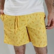 Shorts Oracon Amarelo com Detalhe Surf