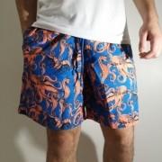 Shorts Oracon Azul/Salmão Polvo
